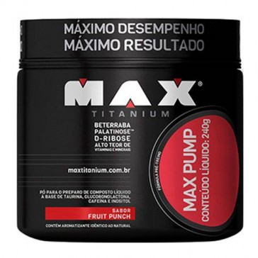 Max Pump FRUTAS VERMELHAS (240g) - Max Titanium