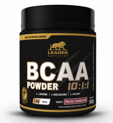 BCAA Powder 10:1:1 (300g) FRUTAS VERMELHAS – Leader Nutrition
