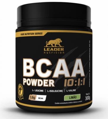BCAA Powder 10:1:1 (300g) LIMÃO – Leader Nutrition