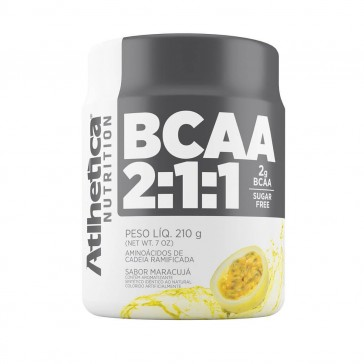 BCAA 2:1:1 SUGAR FREE (210g) MARACUJÁ – Athletica Nutrition