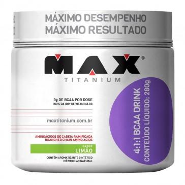 BCAA Drink 4:1:1 (280g) LIMÃO – Max Titanium