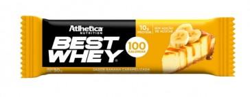 Best Whey Bar (AVULSA de 30g) BANANA CARAMELIZADA - Athletica Nutrition