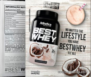 Best Whey Sache (Avulso) CHOCO COCONUT – Atlhetica Nutrition