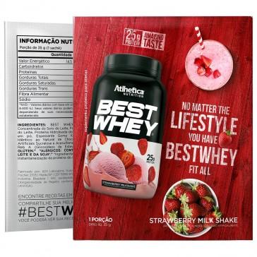 Best Whey Sache (Avulso) MILK SHAKE DE MORANGO – Atlhetica Nutrition