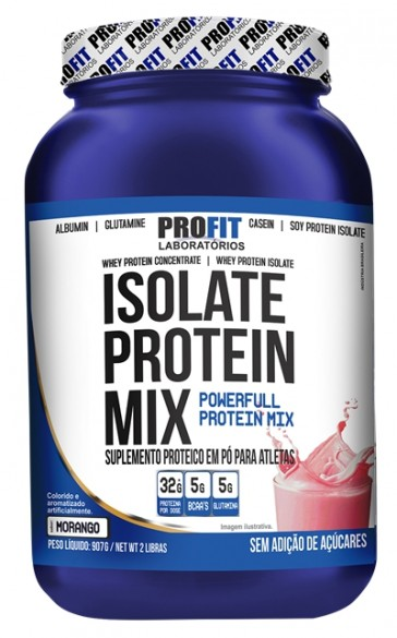Isolate Protein Mix (907g) MORANGO – Profit