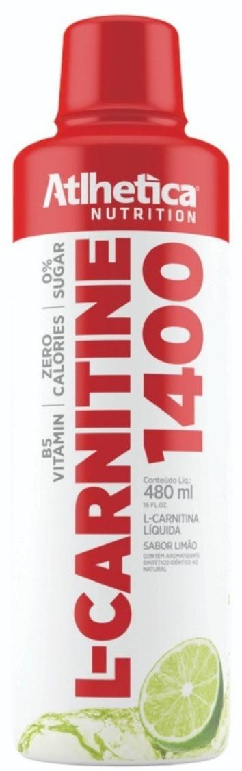 L-CARNITINE 1400 (480ml) LIMÃO – Atlhetica Nutrition