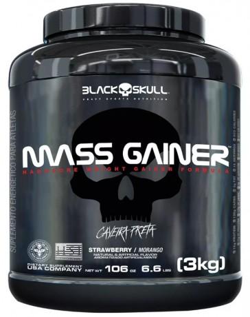 Mass Gainer (3kg) STRAWBERRY – Black Skull