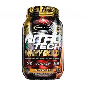 Nitro Tech 100% Whey Gold (2.5lbs) DULCE DE LECHE – Muscletech