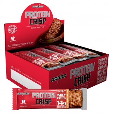 Protein Crisp Bar (540g 12unid.) PASTA DE AMENDOIM – INTEGRALMEDICA