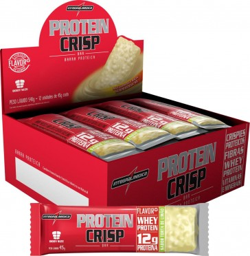 Protein Crisp Bar (540g 12unid.) TORTA DE LIMÃO – INTEGRALMEDICA