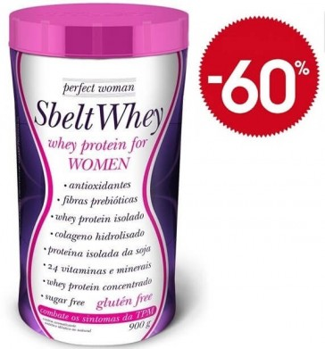 Sbelt Whey Perfect Woman BAUNILHA (900g) - New Millen