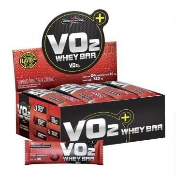 VO2 Whey Bar (720g 24 unid.) MORANGO – INTEGRALMEDICA