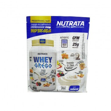 Whey Grego (40g) NATURAL – Nutrata