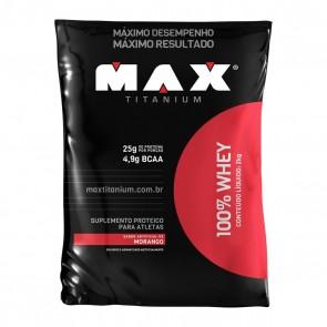 100% Whey MORANGO (2kg) – Max Titanium