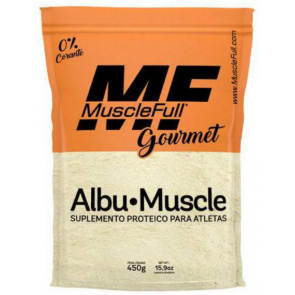 Albumina Albu-Muscle (450g) PÊSSEGO – MuscleFull