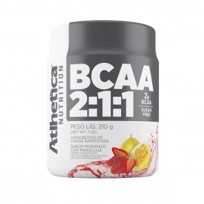 BCAA 2:1:1 SUGAR FREE (210g) MORANGO C/ MARACUJÁ – Atlhetica Nutrition