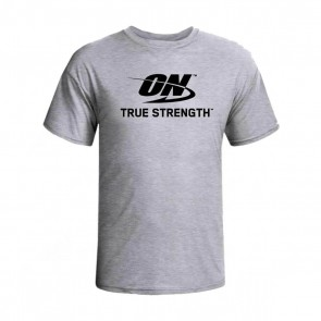 Camiseta ON Cinza (M) – Optimum Nutrition