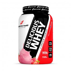 Delicious Whey (900g) MILKSHAKE DE MORANGO – Body Action