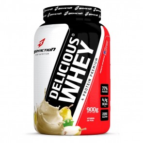 Delicious Whey (900g) VITAMINA DE PÊRA – Body Action
