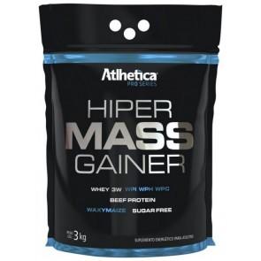 Hiper Mass Gainer MORANGO (3kg) - Atlhetica Nutrition