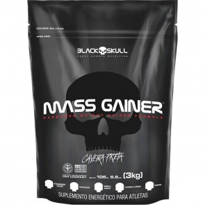 Mass Gainer (3kg - REFIL) VANILLA – Black Skull