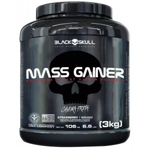 Mass Gainer (3kg) STRAWBERRY – Black Skull