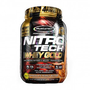 Nitro Tech 100% Whey Gold (2.24lbs) CHOCOLATE PEANUT BUTTER BONUS SIZE – Muscletech