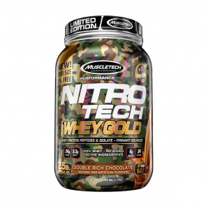 Nitro Tech 100% Whey Gold (2.50lbs) DOUBLE RICH CHOCOLATE LIMITED EDITION – Muscletech