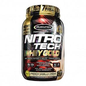 Nitro Tech 100% Whey Gold (2.50lbs) FRENCH VANILLA CRÈME BONUS SIZE – Muscletech