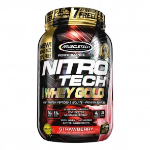 Nitro Tech 100% Whey Gold (2.5lbs) STRAWBERRY – Muscletech