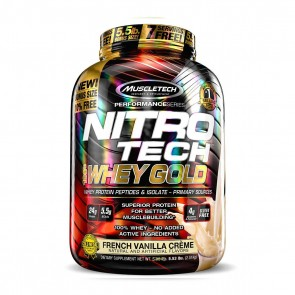 Nitro Tech 100% Whey Gold (5.53lbs) FRENCH VANILLA CRÈME – Muscletech