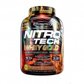 Nitro Tech 100% Whey Gold (5.54lbs) DOUBLE RICH CHOCOLATE – Muscletech