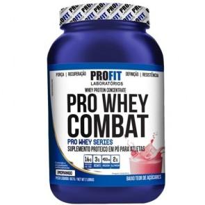 Pro Whey Combat (Pote) (907g) MORANGO – Profit