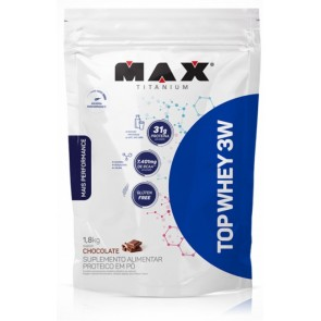 Top Whey 3W + Performance CHOCOLATE (1,8kg REFIL) – Max Titanium
