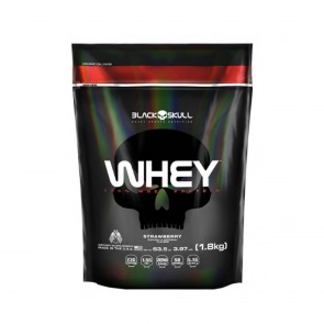 WHEY 100% (1,8kg REFIL) STRAWBERRY – Black Skull