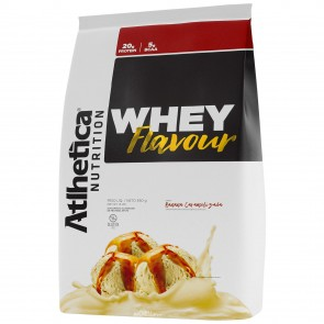 Whey Flavour (850g) BANANA CARAMELIZADA – Atlhetica Nutrition