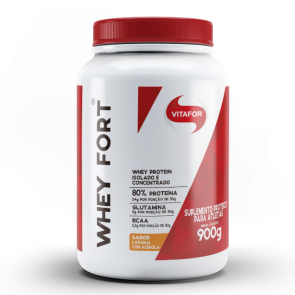 Whey Fort (900g) LARANJA C/ACEROLA – Vitafor