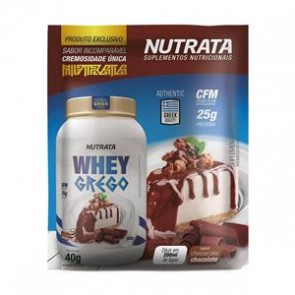 Whey Grego (40g) CHEESECAKE DE CHOCOLATE – Nutrata