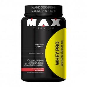 Whey Pro MORANGO (1kg) – Max Titanium